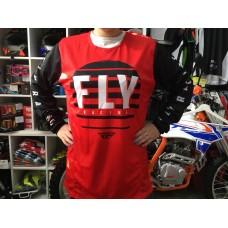 Футболка для мотокросса FLY RACING KINETIC K220 красная/чёрная/белая (2020)