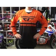 Футболка для мотокросса FLY RACING KINETIC K120 оранжевая/чёрная/белая (2020)