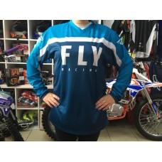 Футболка для мотокросса FLY RACING F-16 синяя/голубая/белая (2020)