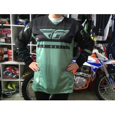 Футболка для мотокросса FLY RACING KINETIC K120 зелёная/чёрная (2020)