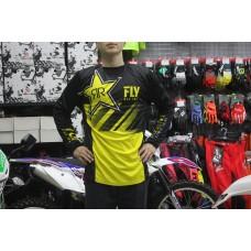 Футболка для мотокросса FLY RACING KINETIC ROCKSTAR желтая/черная