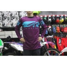 Футболка для мотокросса FLY RACING KINETIC SHIELD фиолетовая/синяя