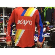Футболка для мотокросса KAYO красная/синяя