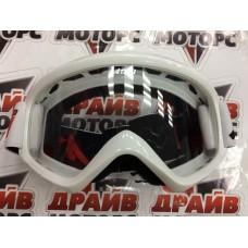 Очки для мотокросса ATAKI HB-319 белые глянцевые