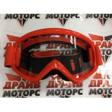 Очки для мотокросса ATAKI HB-319 красные глянцевые