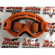 Очки для мотокросса ATAKI HB-319 оранжевые глянцевые