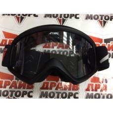 Очки для мотокросса ATAKI HB-319 черные матовые