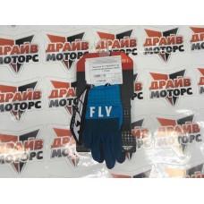 Перчатки (детские) FLY RACING F-16 синие/голубые/белые (2020)