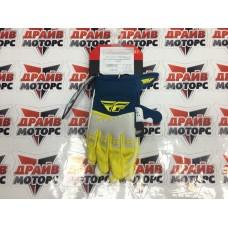 Перчатки FLY RACING F-16 желтые/белые/синие (2019)