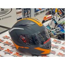 Шлем (интеграл) Ataki JK316 Route черный/оранжевый матовый