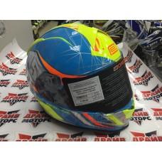Шлем (интеграл) Origine GT Raider синий/желтый глянцевый