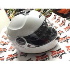 Шлем модуляр для снегохода VEGA VR1 (стекло с подогревом + маска) Solid титановый матовый Шлем