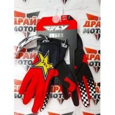 Перчатки FLY RACING LITE ROCKSTAR черные/красные