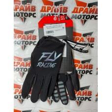 Перчатки FLY RACING LITE черные/серебристые