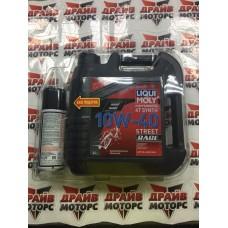 Масло Liqui Moly Street Race 4l + смазка цепи